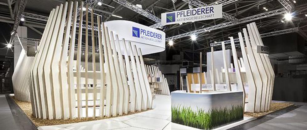 slider_Pfleiderer Messestand Bau 2011 München